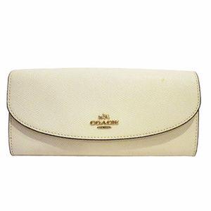 Coach Women's Wallet  White OS
